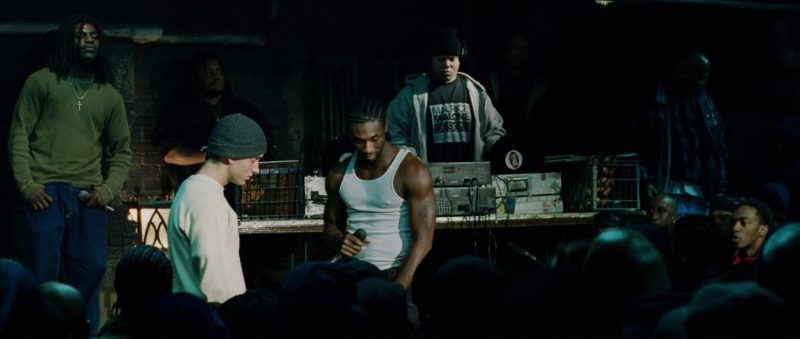 Maurice Malone Designs Men's T-Shirt in 8 Mile (2002) - Movie Product Placement