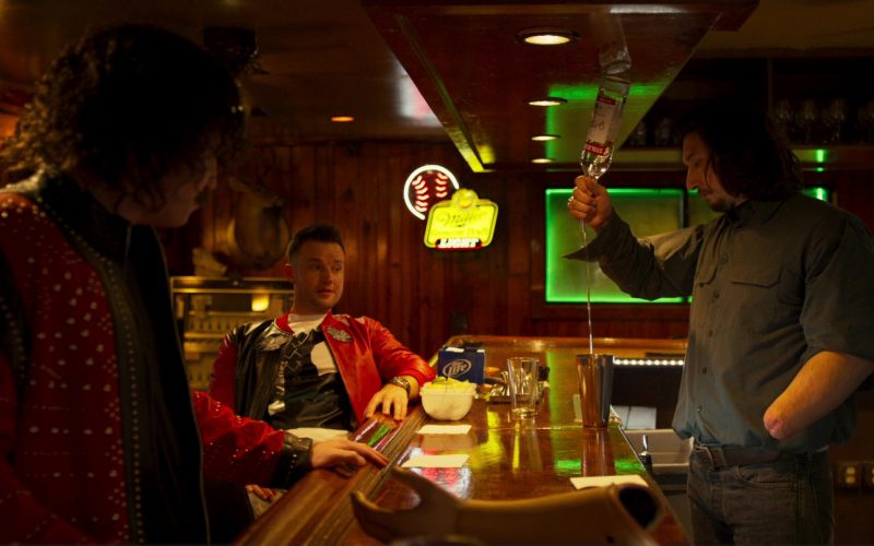 Miller Lite Beer Sign and Stolichnaya Vodka Bottle in Logan Lucky