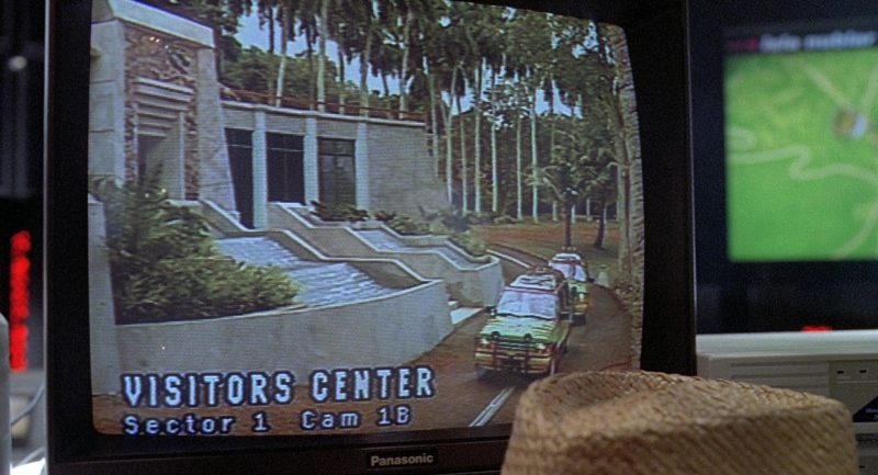 Panasonic Monitor Used by Richard Attenborough in Jurassic Park (1993) Movie Product Placement