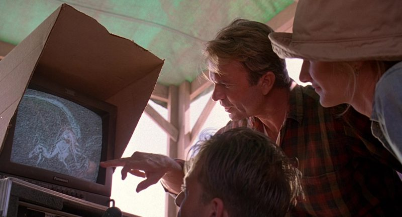 Panasonic Monitor Used by Sam Neill in Jurassic Park (1993) - Movie Product Placement