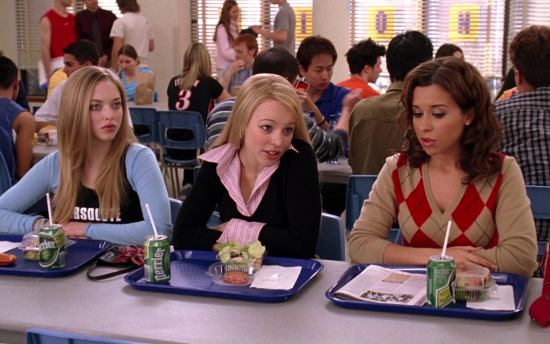 Perrier Water (Amanda Seyfried, Rachel McAdams and Lacey Chabert) in Mean Girls (1)