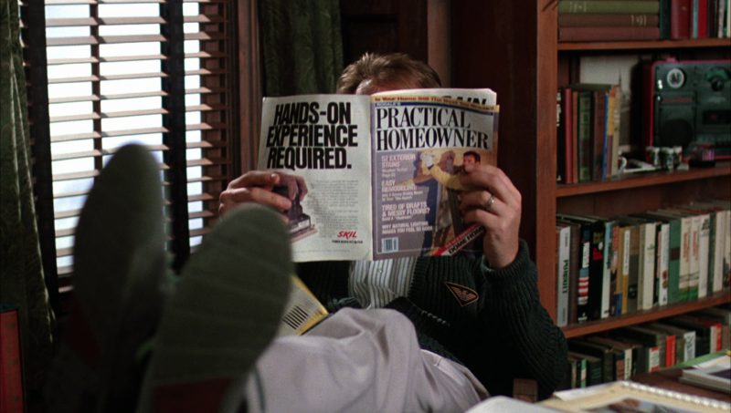 Practical Homeowner Magazine And Armani Cardigan in Beetlejuice (1988) - Movie Product Placement