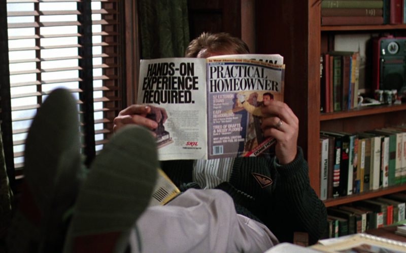Practical Homeowner Magazine And Armani Cardigan in Beetlejuice