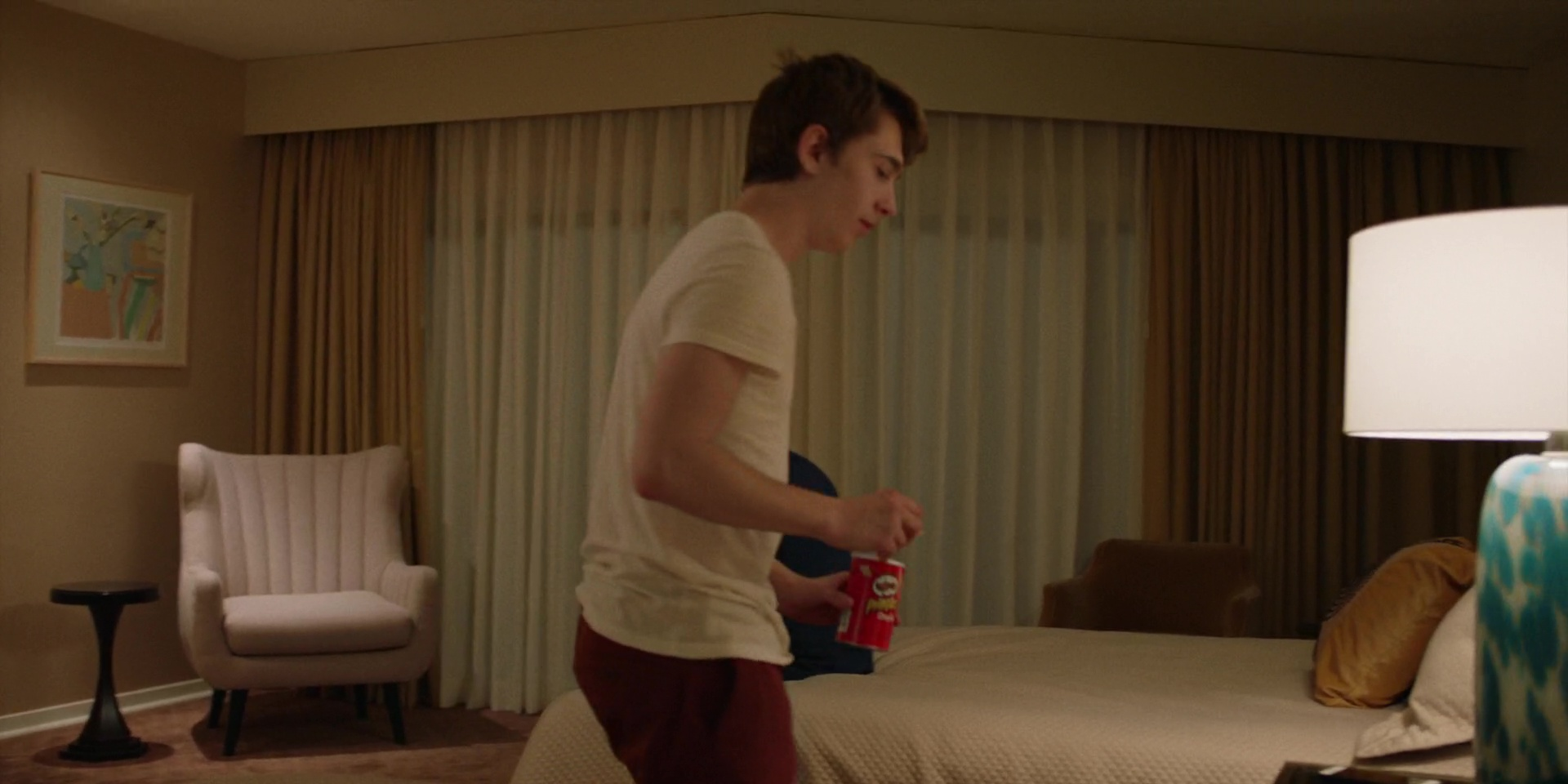Pringles Potato Chips And Austin Abrams In Brad 39 S Status 2017 Movie Scenes