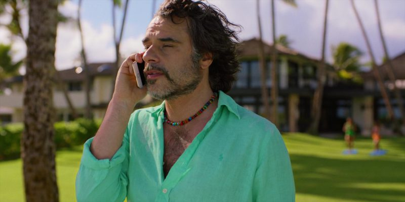 Ralph Lauren Green Shirt Worn by Jemaine Clement in Brad's Status (2017) - Movie Product Placement