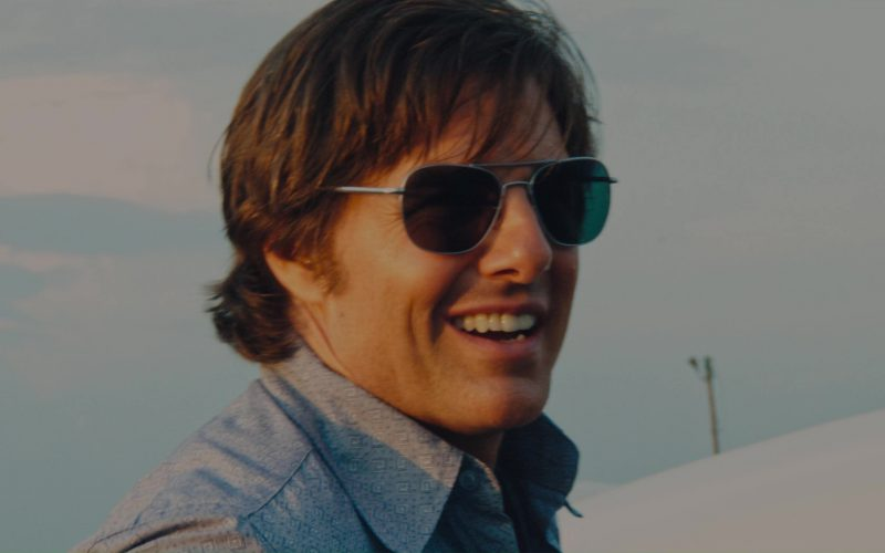 ca6755c650 Randolph Engineering Aviator Bright Chrome Sunglasses Worn by Tom Cruise in  American Made (2017)