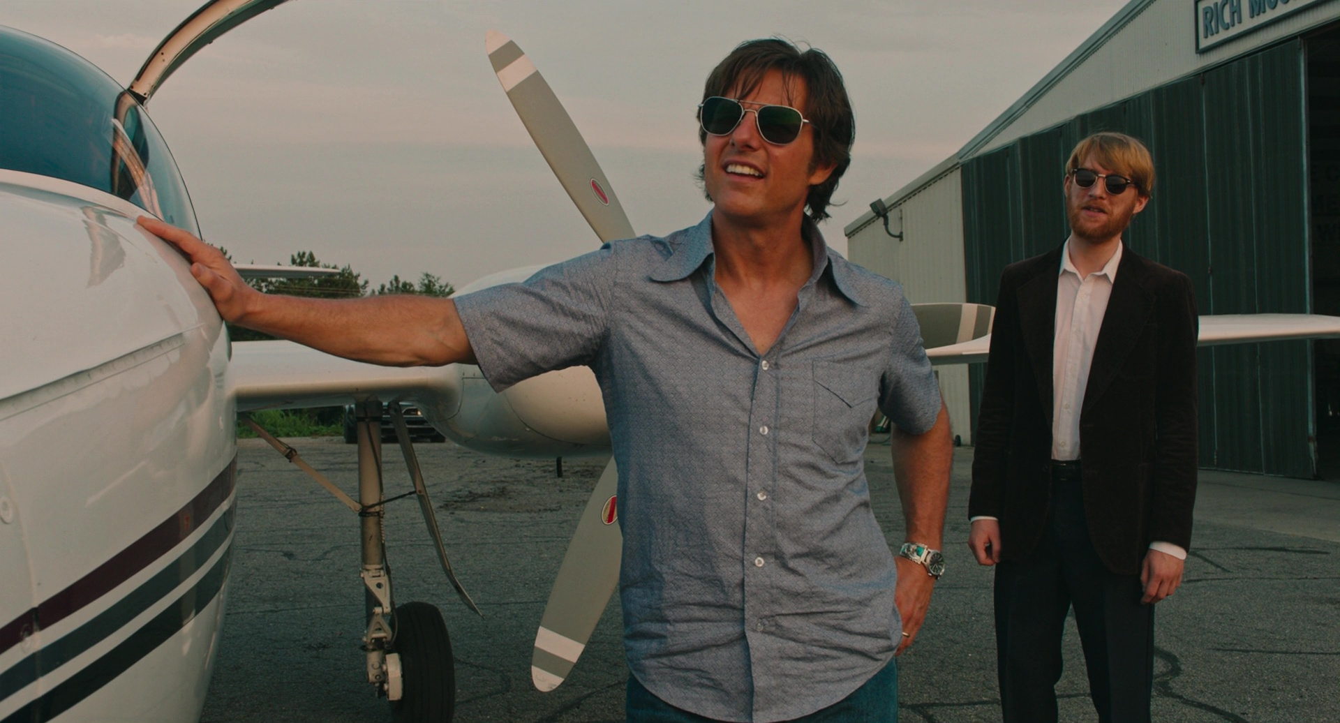Randolph Engineering Aviator Bright Chrome Sunglasses Worn