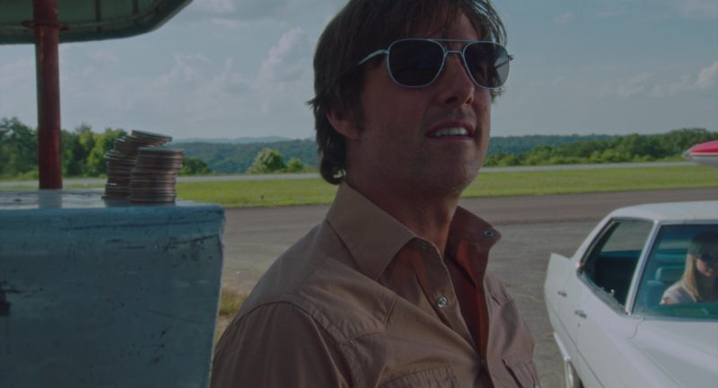 cee049ac8b Randolph Engineering Aviator Bright Chrome Sunglasses Worn by Tom Cruise in American  Made (2017 .