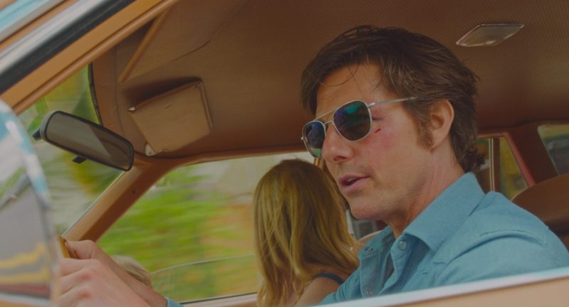 Randolph Engineering Aviator Bright Chrome Sunglasses Worn by Tom Cruise in American Made (2017) Movie Product Placement