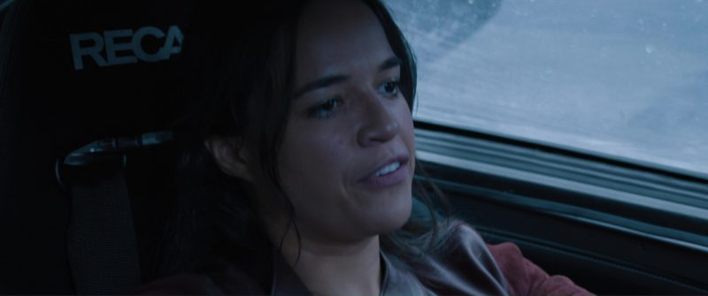 Recaro Seats Used by Michelle Rodriguez in The Fate of the Furious (2017) Movie Product Placement
