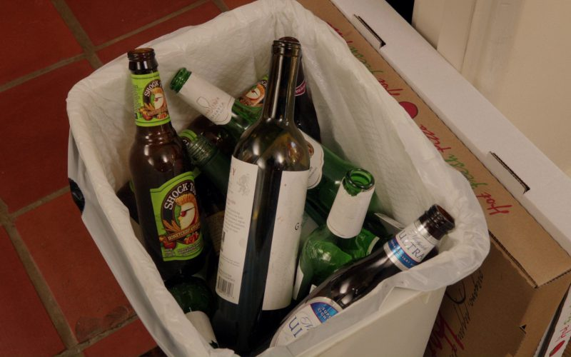 Shock Top Honeycrisp Apple Wheat, Michelob and Budweiser Beer Bottles in Home Again (2)