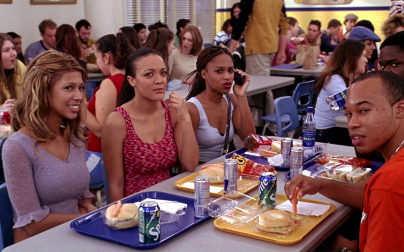 Sprite, Red Bull, Cheetos, Doritos, Dasani in Mean Girls (1)