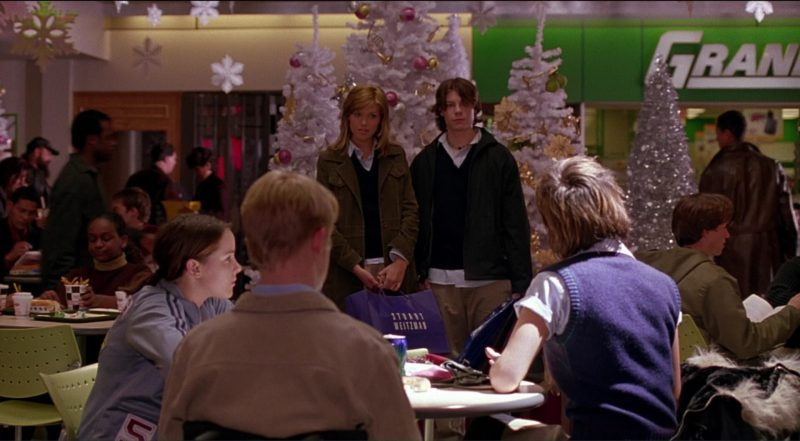 Stuart Weitzman Paper Bags Used by Mandy Moore in Saved! (2004) - Movie Product Placement