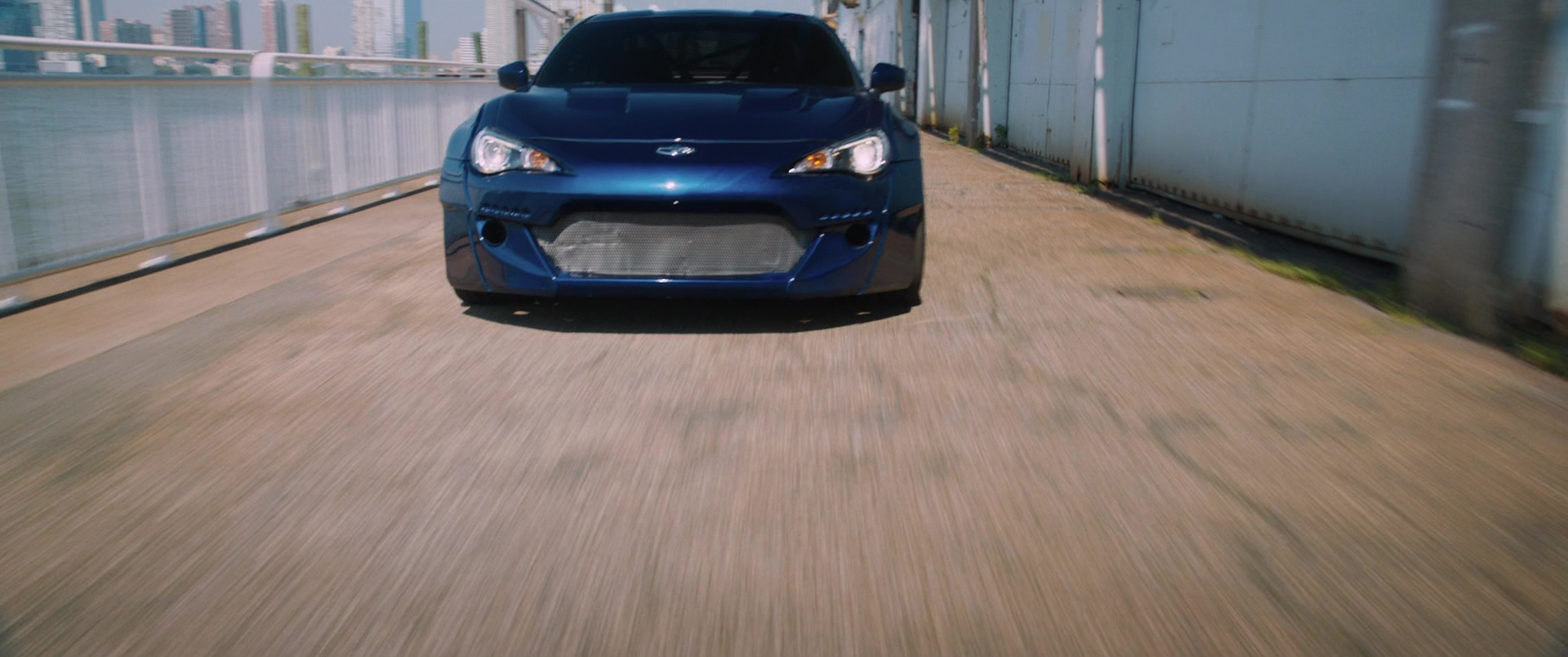 subaru brz car in the fate of the furious  2017  movie