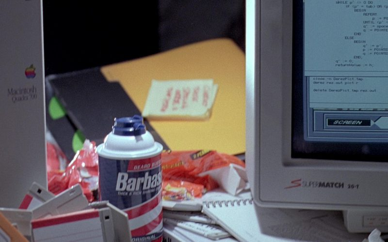 SuperMatch 20-T Monitor, Apple Macintosh Quadra 700 and Barbasol in Jurassic Park (1)