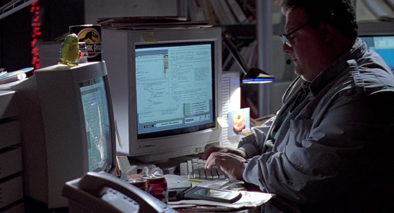 SuperMatch 20-T Monitor by SuperMac in Jurassic Park (1993) - Movie Product Placement