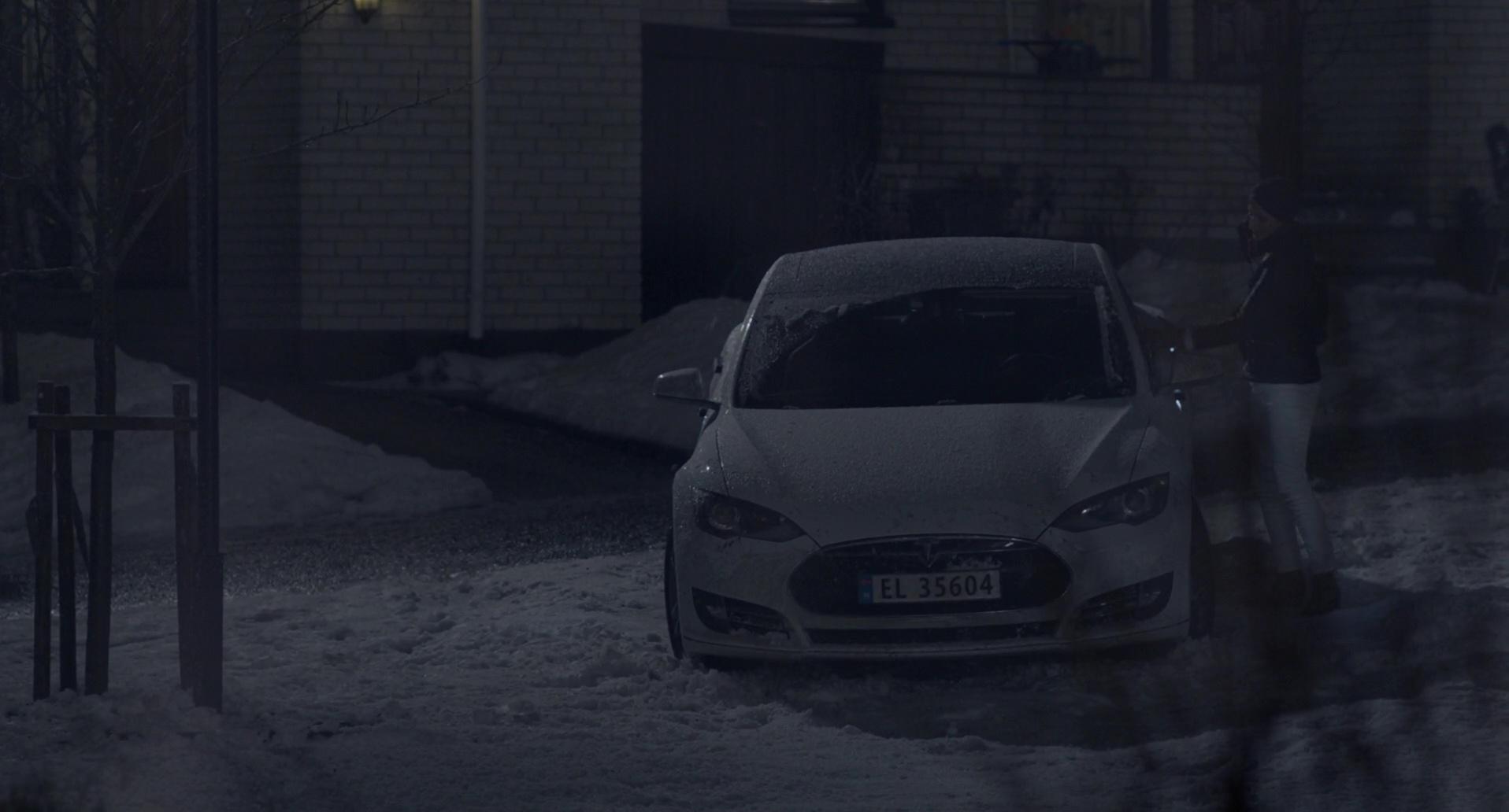 Tesla Model S Car in The Snowman (2017) Movie