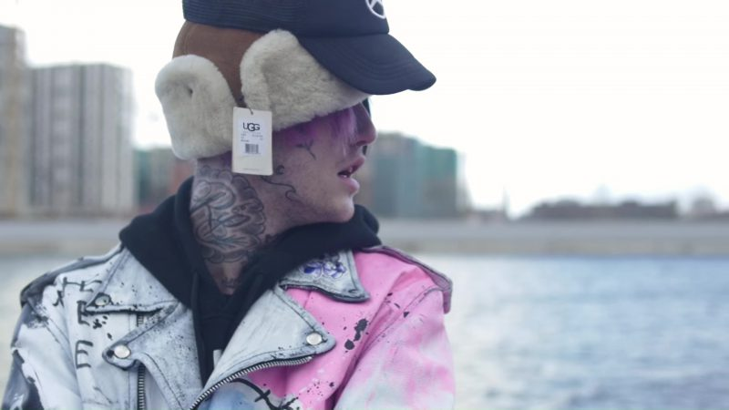 UGG Hat Worn by Lil Peep in Benz Truck (2017) Official Music Video Product Placement