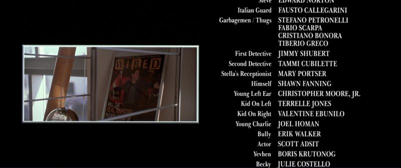 Wired Magazine Cover in The Italian Job (2003) - Movie Product Placement
