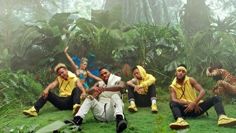 Vans Yellow Sneakers in Tip Toe by Jason Derulo ft. French Montana (2017) Official Music Video Product Placement