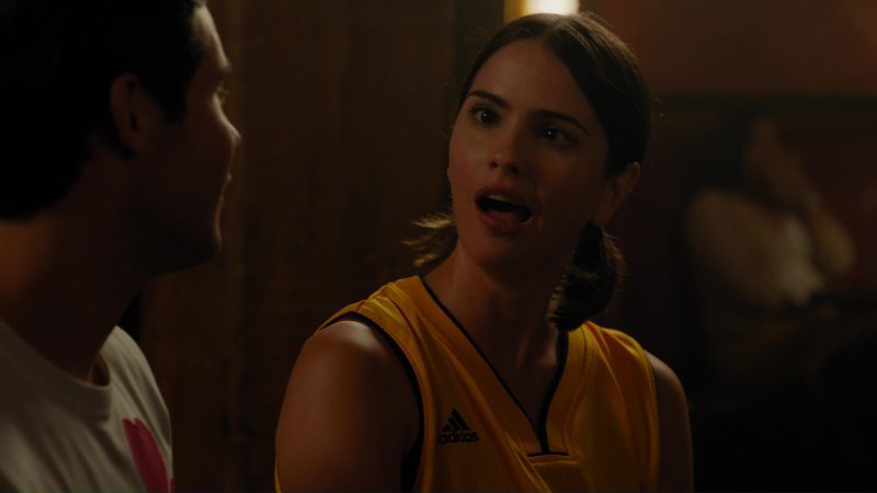 Adidas X Los Angeles Lakers T-Shirt  Worn by Shelley Hennig in When We First Met (2018) Movie Product Placement