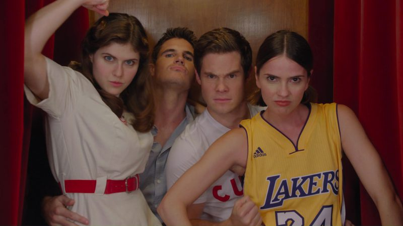 Adidas X Los Angeles Lakers T-Shirt  Worn by Shelley Hennig in When We First Met (2018) - Movie Product Placement