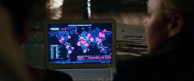 Apple MacBook Air in Geostorm (2017) Movie Product Placement