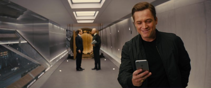 Apple iPhone Used by Taron Egerton in Kingsman 2: The Golden Circle (2017) - Movie Product Placement