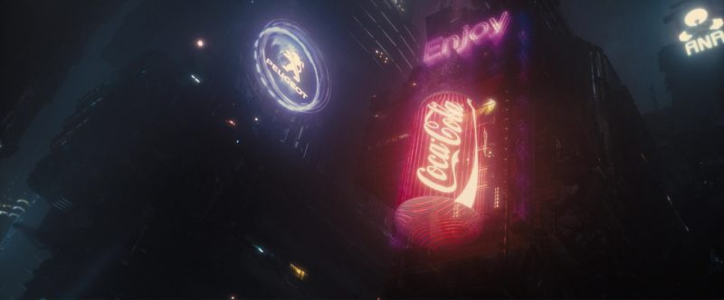 Peugeot and Coca-Cola in Blade Runner 2049 (2017) Movie Product Placement