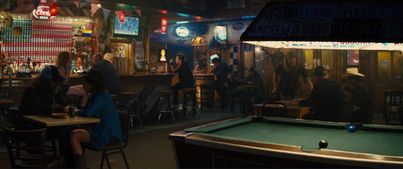 Coors Beer Neon Sign in Kingsman 2: The Golden Circle (2017) Movie Product Placement