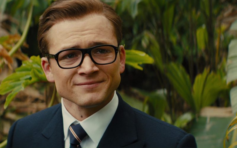 Cutler And Gross Black Glasses Worn by Taron Egerton in Kingsman The Golden Circle (7)