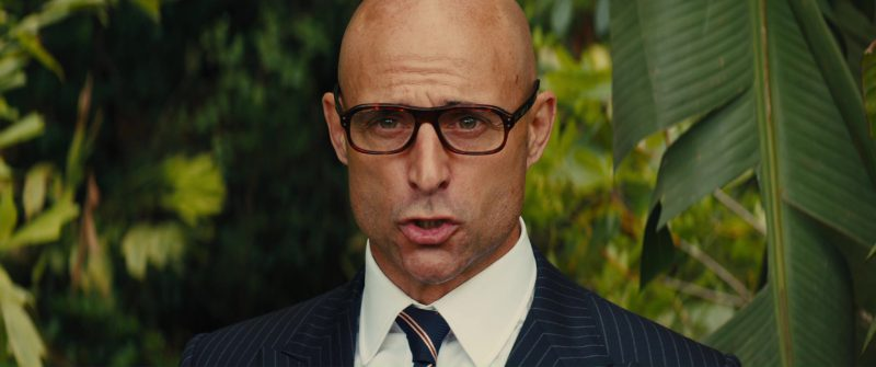 Cutler And Gross Square-Frame Tortoiseshell Acetate Optical Glasses Worn by Mark Strong in Kingsman 2: The Golden Circle (2017) - Movie Product Placement