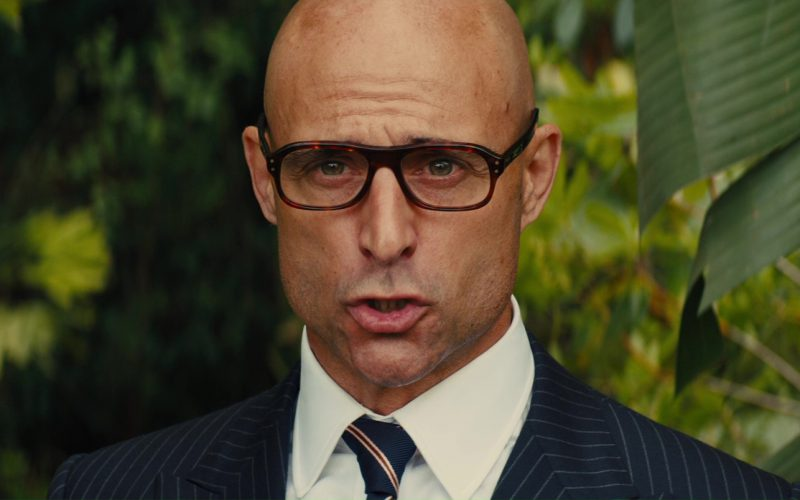 99097d1c18 Cutler And Gross Square-Frame Tortoiseshell Acetate Optical Glasses Worn by  Mark Strong in Kingsman 2  The Golden Circle (2017)
