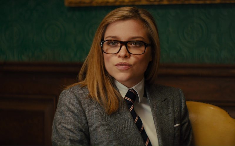 Cutler And Gross Square-Frame Tortoiseshell Acetate Optical Glasses Worn by Roxy (Sophie Cookson) in Kingsman The Golden Circl (1)