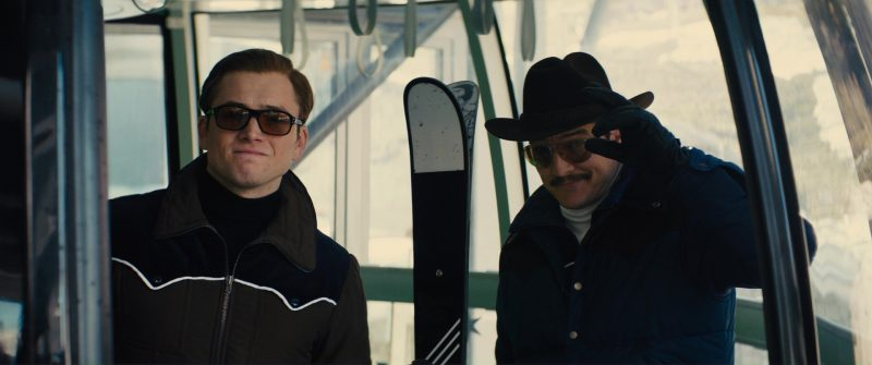 Cutler And Gross Square-Frame Tortoiseshell Acetate Sunglasses Worn by Taron Egerton in Kingsman 2: The Golden Circle (2017) Movie Product Placement
