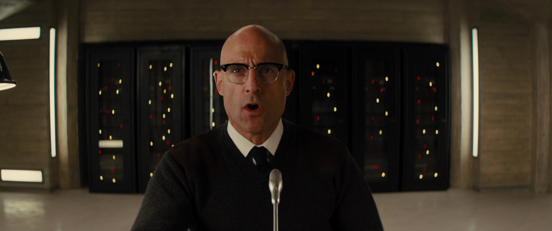 891f069900d Cutler and Gross 0755 Frame Eyeglasses Worn by Mark Strong in Kingsman 2   The Golden Circle (2017)