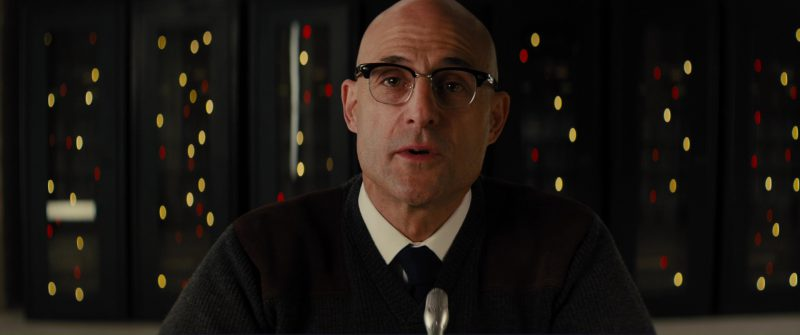 Cutler and Gross 0755 Frame Eyeglasses Worn by Mark Strong in Kingsman 2: The Golden Circle (2017) Movie Product Placement