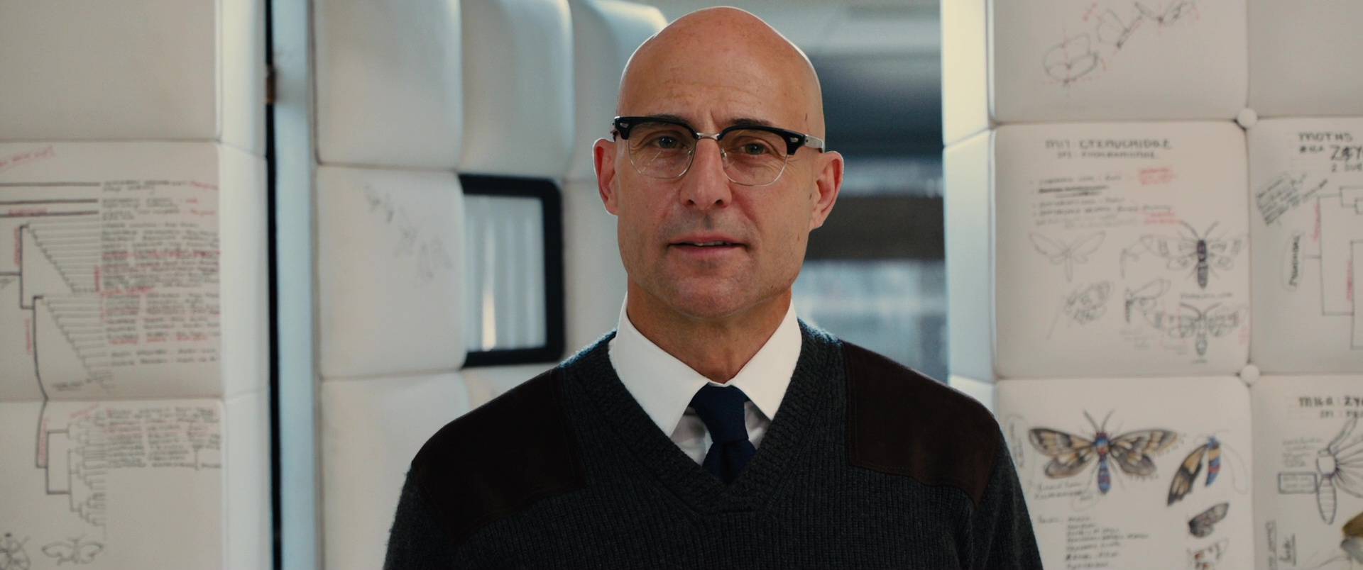 8333a8a6d43 Cutler and Gross 0755 Frame Eyeglasses Worn by Mark Strong in Kingsman 2   The Golden