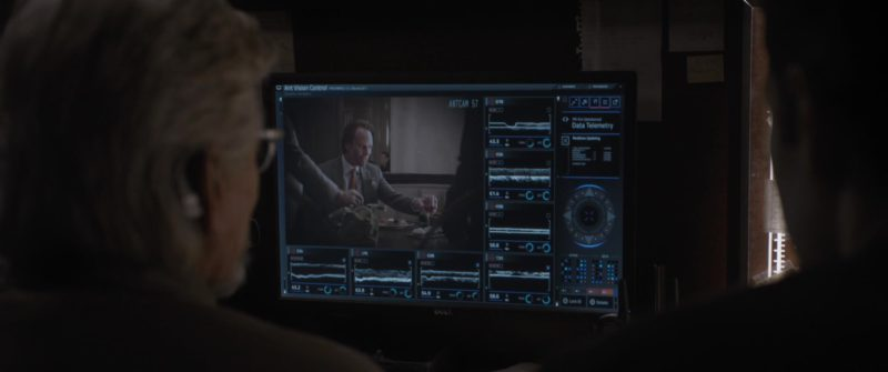 Dell Monitor Used by Paul Rudd and Michael Douglas in Ant-Man and the Wasp (2018, Marvel Studios) Movie Product Placement