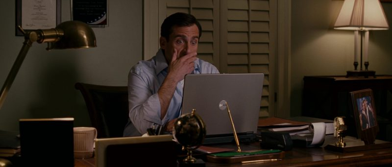 Dell Notebook Used by Steve Carell in Evan Almighty (2007) - Movie Product Placement