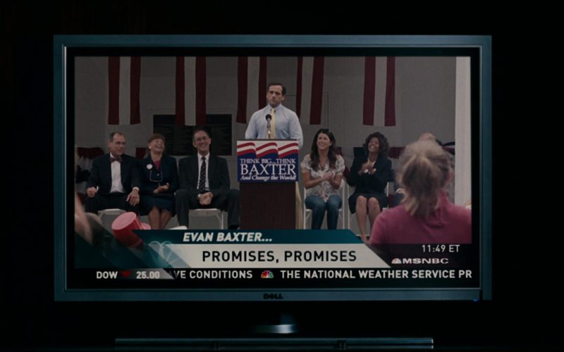 Dell TV and MSNBC in Evan Almighty (1)