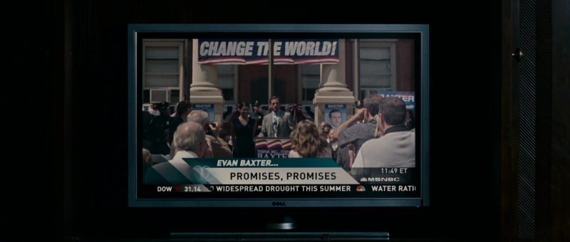 Dell TV and MSNBC in Evan Almighty (2007) - Movie Product Placement