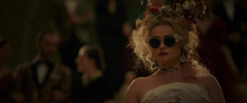 Dolce & Gab­bana Gar­den Flow­ers Cat Eye Sunglasses Worn by Helena Bonham Carter in Ocean's 8 (2018) Movie Product Placement