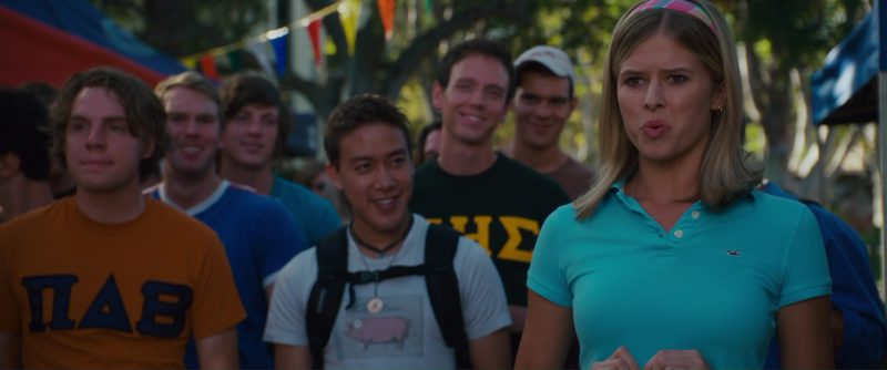 Hollister Polo Shirt Worn by Sarah Wright in The House Bunny (2008) - Movie Product Placement