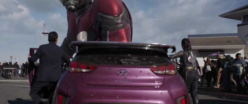 Hyundai Veloster Car and Goodyear Tires (Eagle) in Ant-Man and the Wasp (2018, Marvel Studios) Movie Product Placement