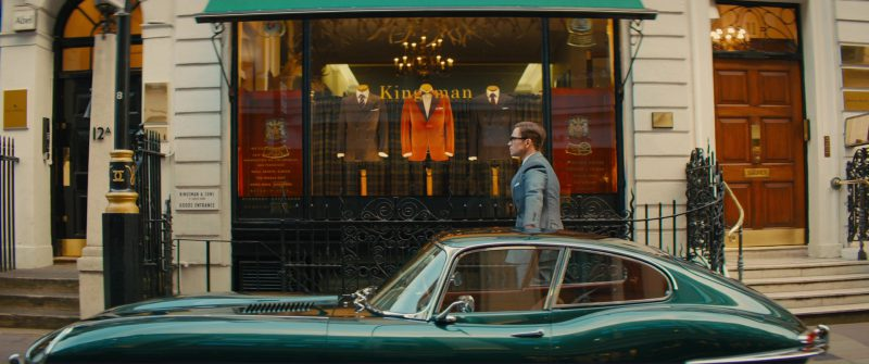 Jaguar E-Type (1964) Retro Car Used by Taron Egerton in Kingsman 2: The Golden Circle (2017) - Movie Product Placement