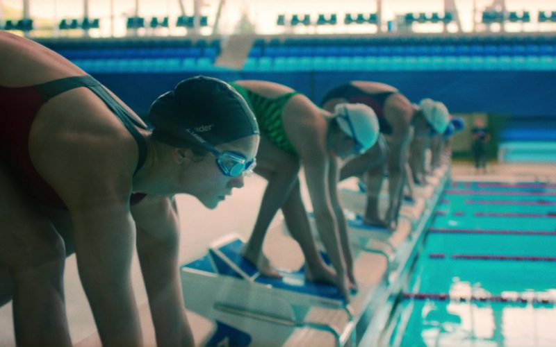 Leader Swimming Goggles and Swim Cap Worn by Nina Dobrev in Flatliners (1)