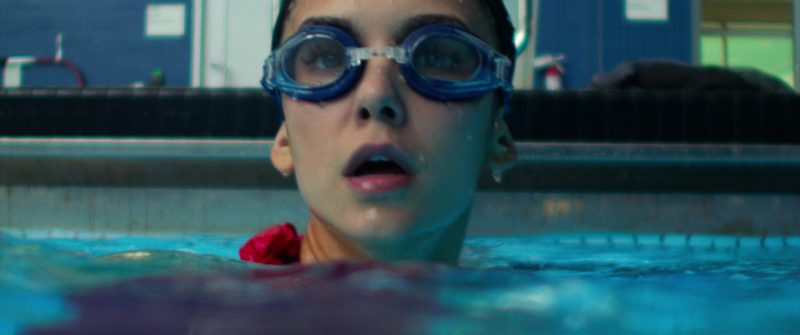 Leader Swimming Goggles and Swim Cap Worn by Nina Dobrev in Flatliners (2017) Movie Product Placement