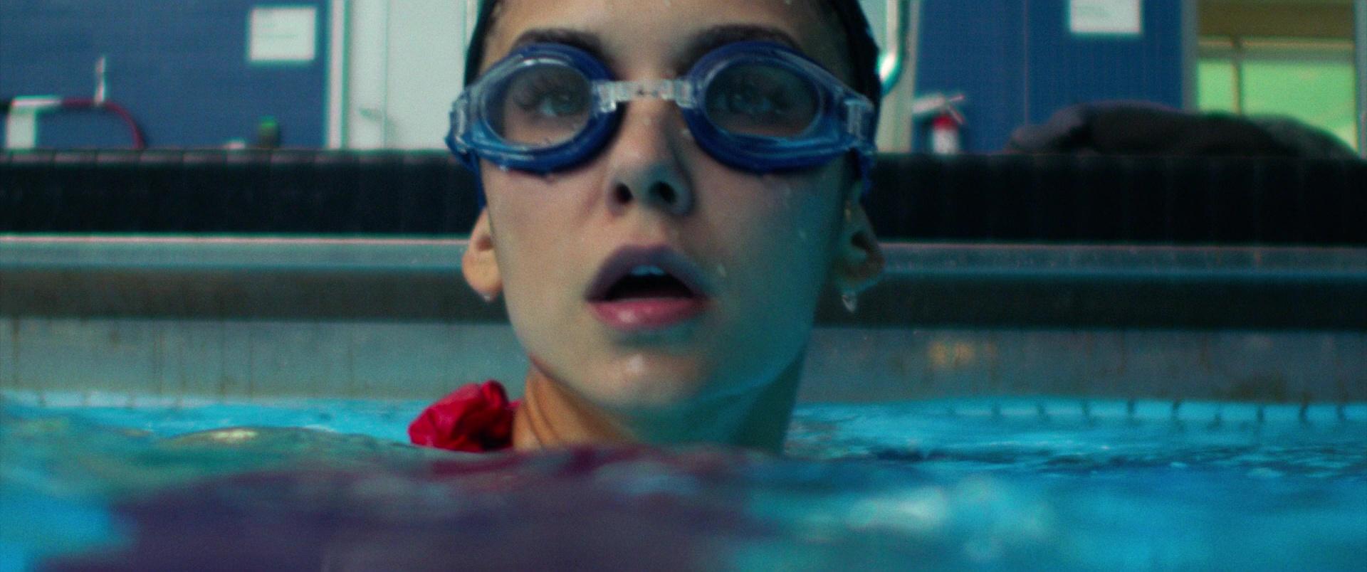 Leader Swimming Goggles And Swim Cap Worn By Nina Dobrev