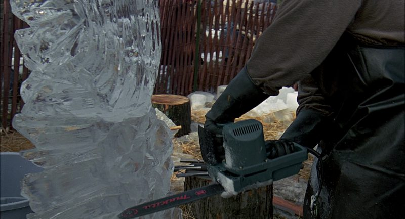 Makita Chainsaw Used by Bill Murray in Groundhog Day (1993) Movie Product Placement